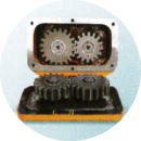 heavy duty 2 speed gearbox