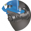 SG iron grade bearing hub with greasing arrangement to avoid dirt and mud entry